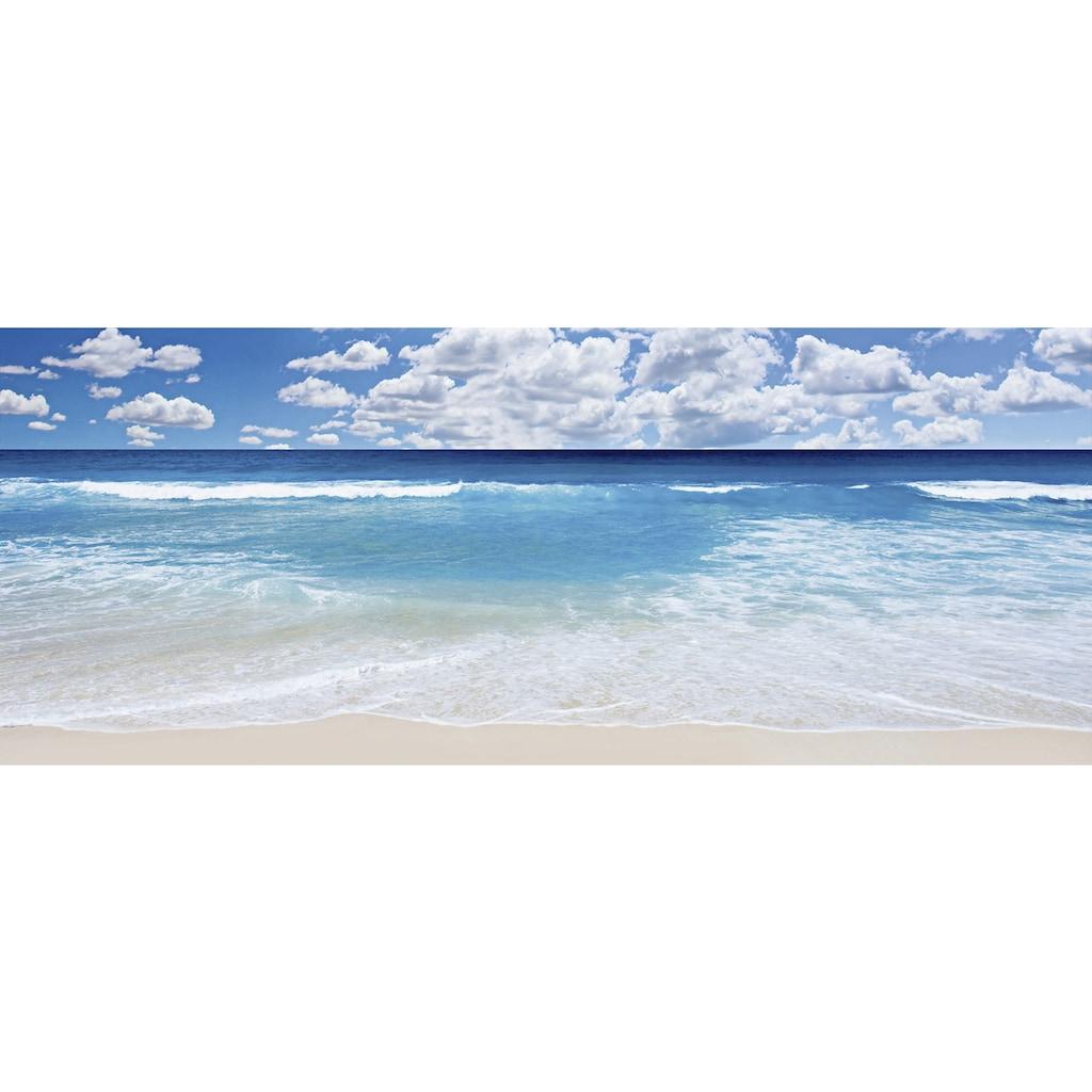 Home affaire Glasbild »Strand und Meer«