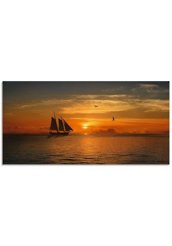 Artland Glasbild »Segelboot im Sonnenuntergang«, Boote & Schiffe, (1 St.) kaufen