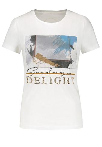 Taifun Rundhalsshirt »T - Shirt mit Front - Print aus Bio - Baumwolle« kaufen