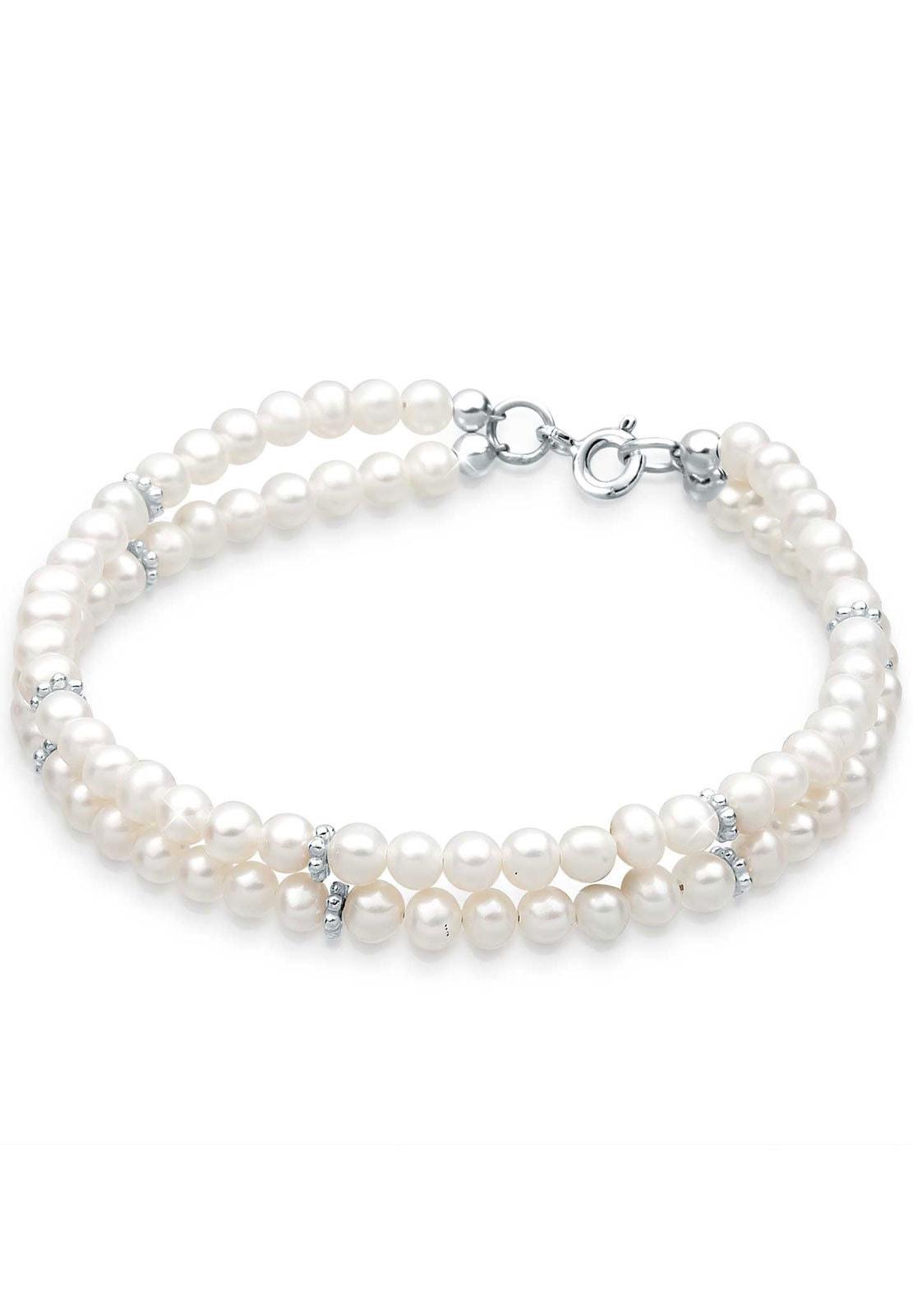 Elli Perlenarmband Süßwasserzuchtperle 925 Sterling Silber | Schmuck > Armbänder > Perlenarmbänder | Elli