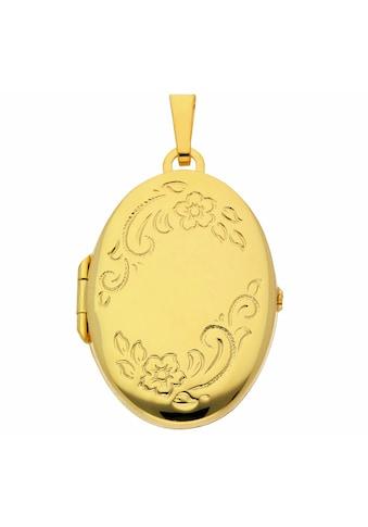 Adelia´s Kette mit Anhänger »585 Gold Medaillon Anhänger - Set mit Halskette«, 585... kaufen