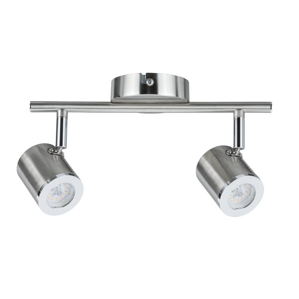 Paulmann LED Deckenleuchte »2er-Spot Nickel Silberfarben Tumbler 2x4,5W«, 1 St., Warmweiß