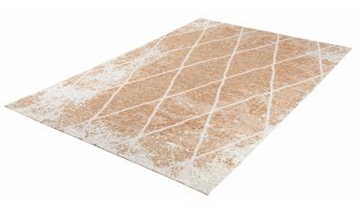 TOM TAILOR Teppich »Fine Lines«, rechteckig, 5 mm Höhe, Flachgewebe, Rauten Design,... kaufen