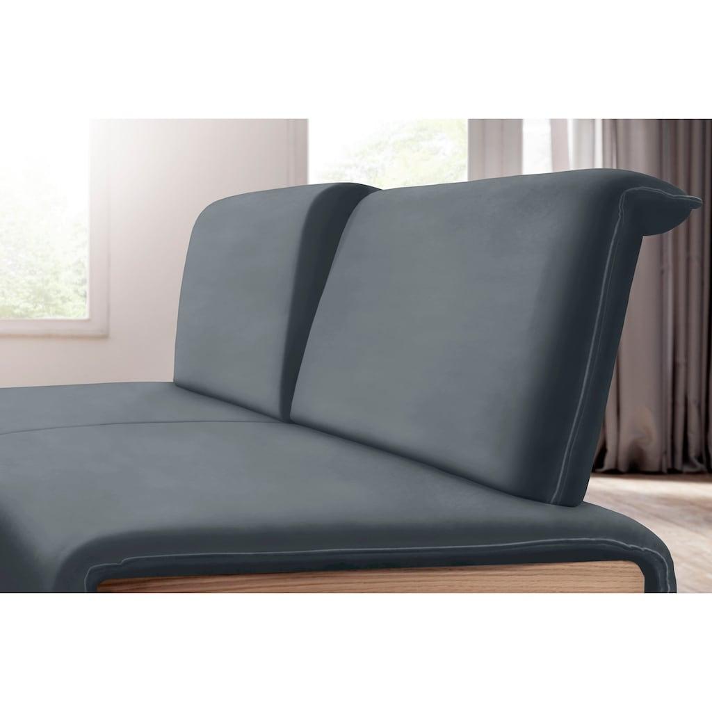 K+W Komfort & Wohnen Sitzbank »Deseo II«, gepolstert mit Rückenneigungsverstellung, wahlweise in 173 oder 196 cm Breite in Velours oder Leder