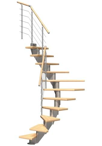 DOLLE Mittelholmtreppe »Frankfurt Birke 65«, bis 279 cm, Edelstahlgeländer, versch. Ausführungen kaufen