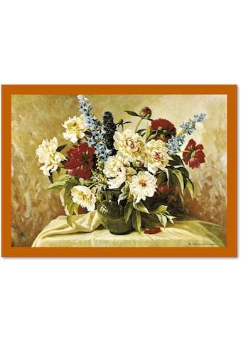 DELAVITA Bild mit Rahmen »Pfingstrose mit Rittersporn«, (1 St.) kaufen