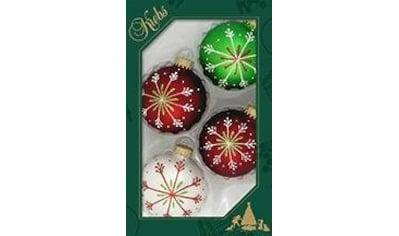 """Krebs Glas Lauscha Weihnachtsbaumkugel """"Schneekristall"""" kaufen"""