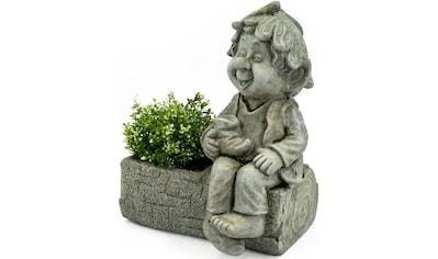 NOOR LIVING Gartenfigur »Pflanztopf mit Gnom«, (1 St.) kaufen