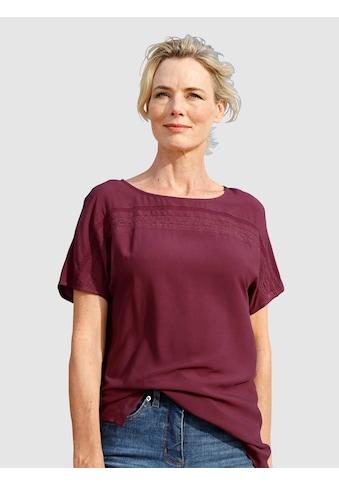 Dress In Schlupfbluse, mit Spitzeneinsatz kaufen