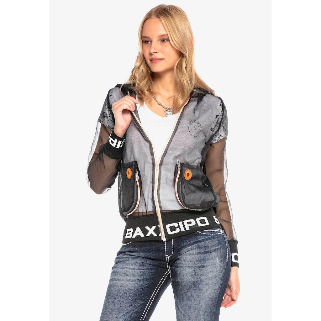 Cipo & Baxx Outdoorjacke, in transparentem Design