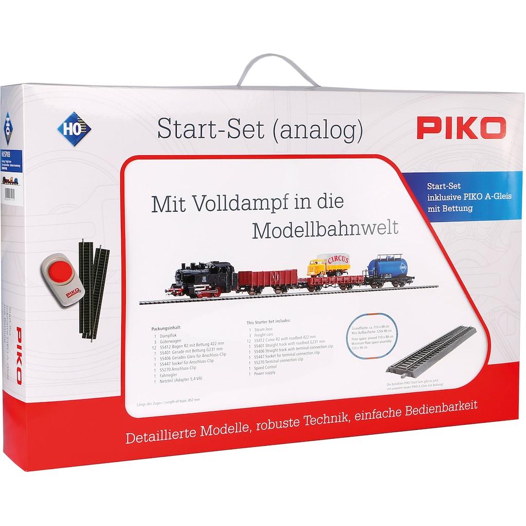 PIKO Modelleisenbahn Startpaket »Güterzug mit Bettung, (57113)«
