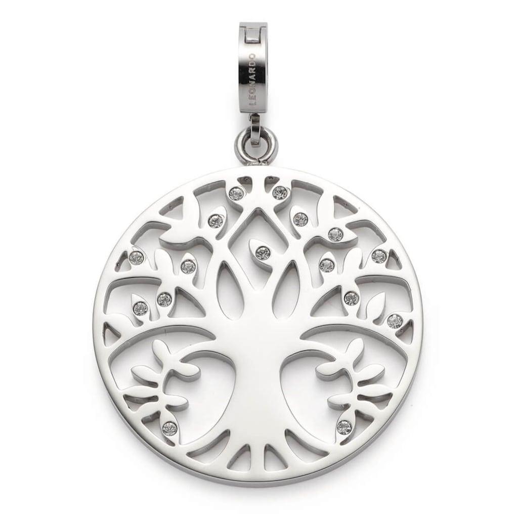 LEONARDO Charm-Einhänger »Lebensbaum, Amita Clip&Mix, 018759«, mit Kristallglassteinen