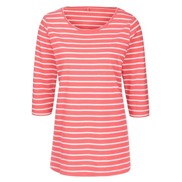 Classic Basics Longshirt mit fröhlichen Ringelreihen