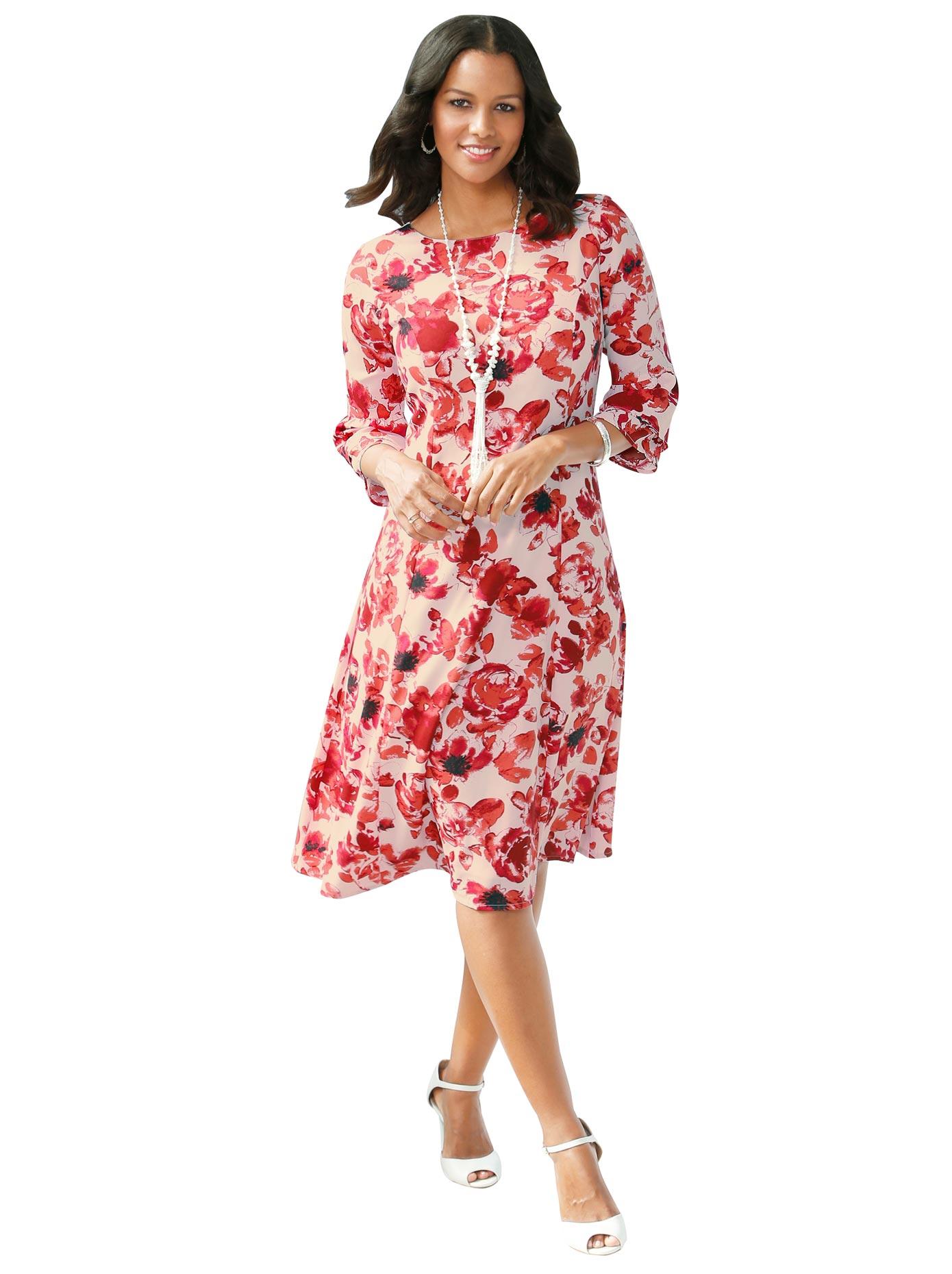lady -  Kleid mit wunderschönem Blumen-Druck