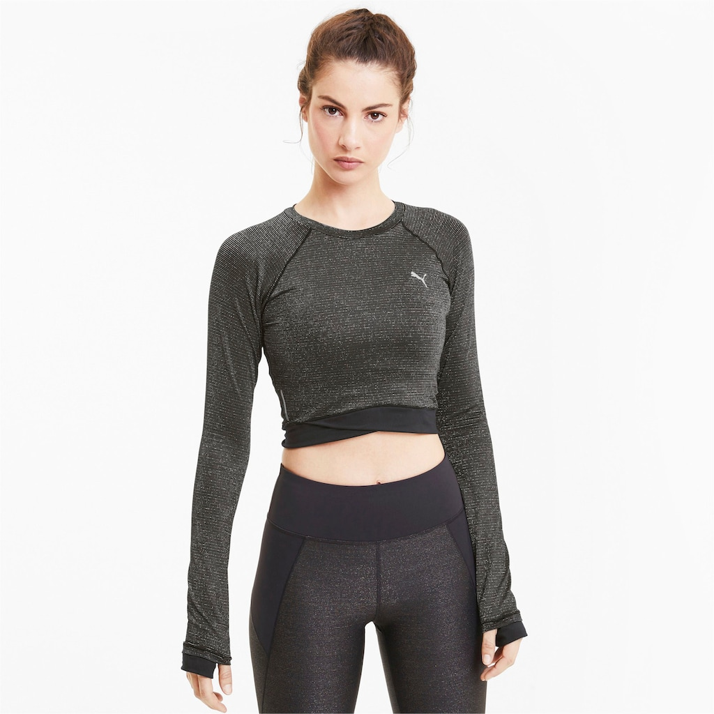 PUMA Langarmshirt »Studio Metallic LS Top«