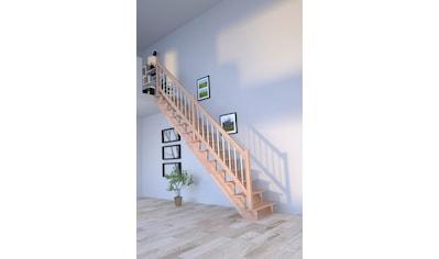 Starwood Systemtreppe »Lindos«, B: 100 cm, gerade Ausführung, Geländer links kaufen
