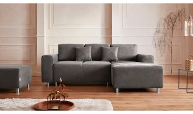 Guido Maria Kretschmer Home&Living Ecksofa »Györ«, wahlweise mit Bettfunktion und Bettkasten incl. 2 Zierkissen, democratichome Edition kaufen