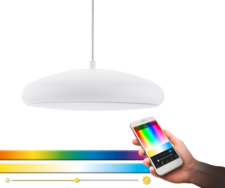 EGLO Pendelleuchte RIODEVA-C, LED-Board, Warmweiß-Tageslichtweiß-Neutralweiß-Kaltweiß, Hängeleuchte, EGLO CONNECT, Steuerung über APP + Fernbedienung, BLE, CCT, RGB, Smart Home, Farbwechsel