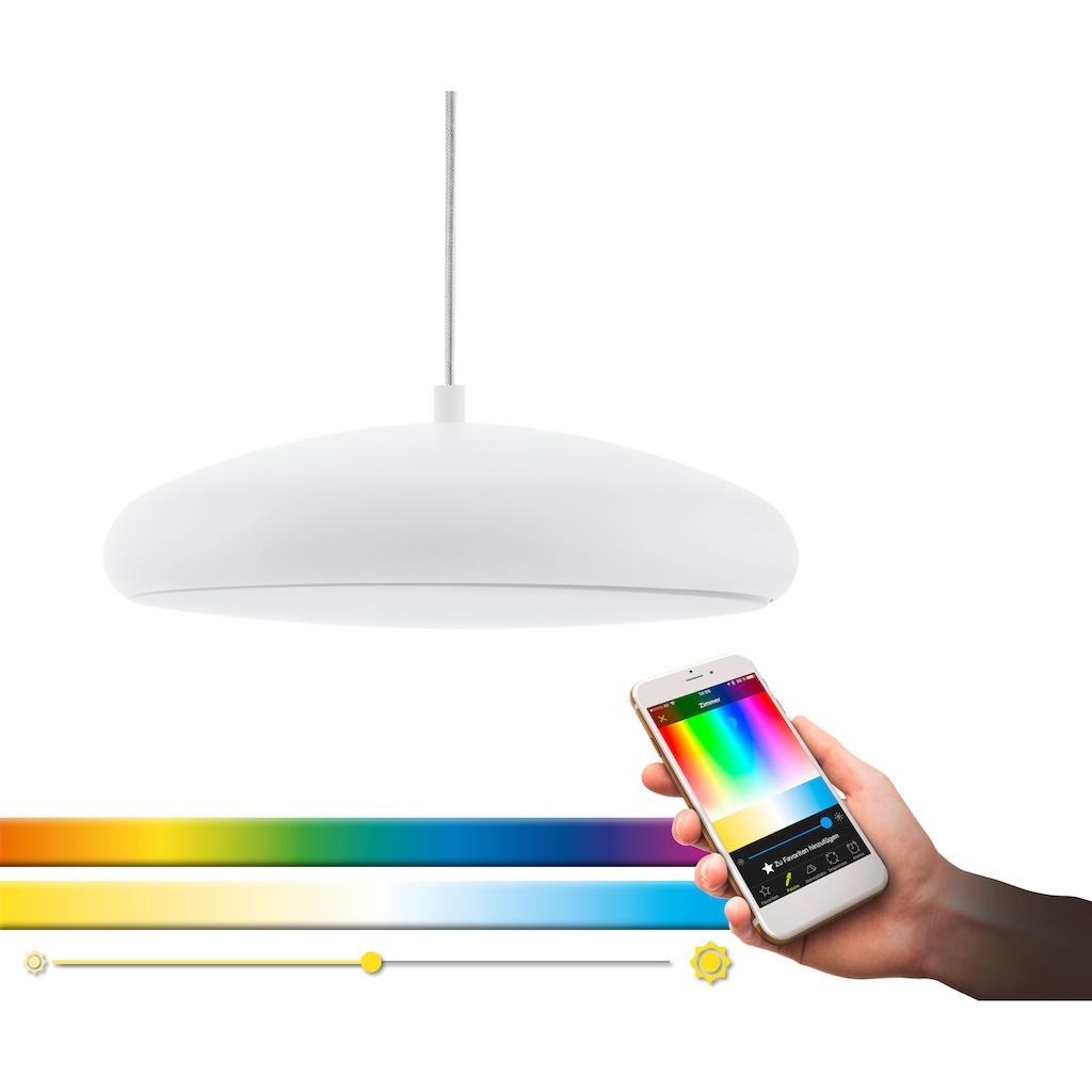 EGLO Pendelleuchte »RIODEVA-C«, LED-Board, Warmweiß-Tageslichtweiß-Neutralweiß-Kaltweiß, Hängeleuchte, EGLO CONNECT, Steuerung über APP + Fernbedienung, BLE, CCT, RGB, Smart Home, Farbwechsel