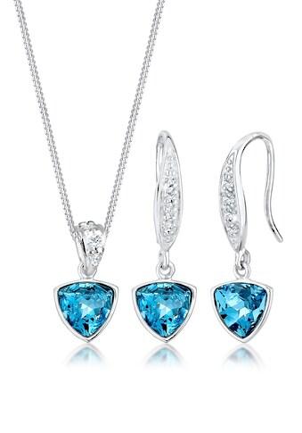 Elli Schmuckset »Geo Aquamarine Swarovski® Kristalle 925 Silber« kaufen