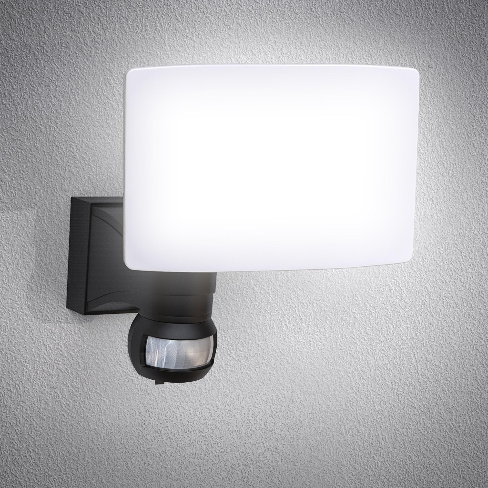 B.K.Licht LED Außen-Wandleuchte, LED-Board, Neutralweiß, LED Außenleuchte Bewegungsmelder schwenkbar 20W 2.300 Lumen 4.000K IP44 Spritzwasserschutz