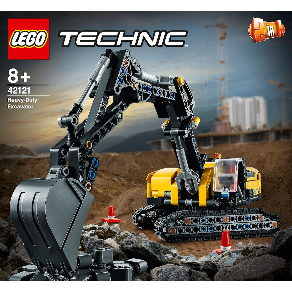 LEGO® Konstruktionsspielsteine »Hydraulikbagger (42121), LEGO® Technic«, (569 St.), Made in Europe