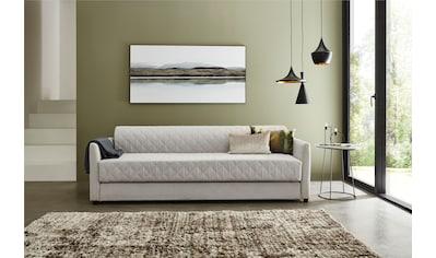 ATLANTIC home collection Schlafsofa, mit Bettfunktion, inklusive Topper mit abnehmbarem Bezug kaufen