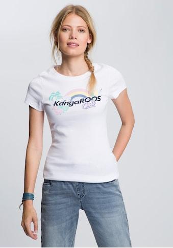 KangaROOS T-Shirt, mit angesagtem Regenbogen Label-Druck kaufen