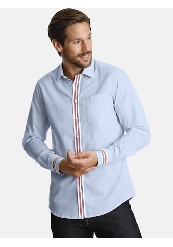 SHIRTMASTER Langarmhemd »vivelafrance«, mit verzierter Knopfleiste kaufen
