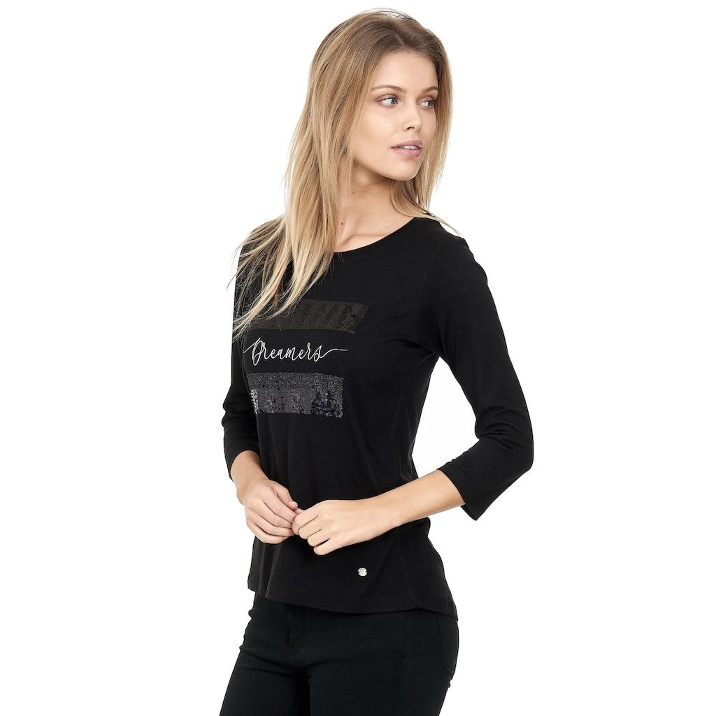 Decay Langarmshirt, mit schimmerndem Paillettenbesatz