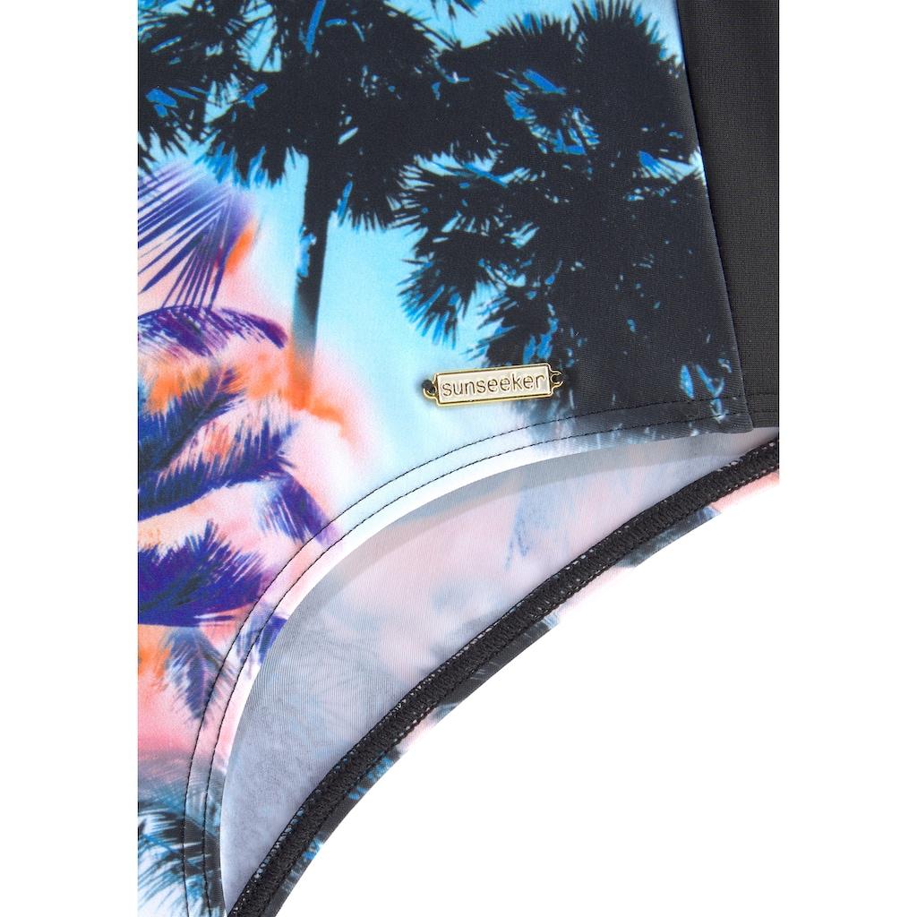 Sunseeker Badeanzug, mit Palmendruck