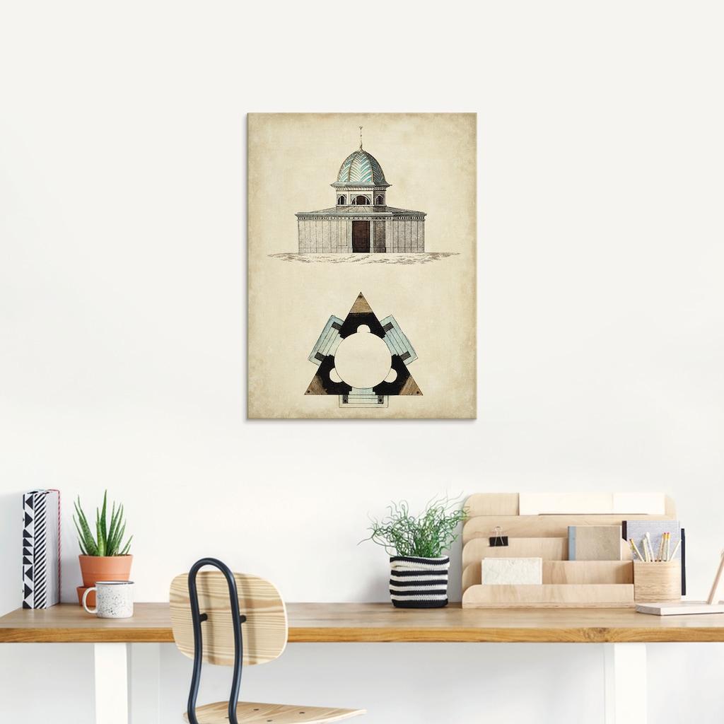 Artland Glasbild »Gartentore I«, Architektonische Elemente, (1 St.)