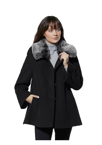 Creation L Woll - Jacke mit abknöpfbarem Webpelzkragen kaufen