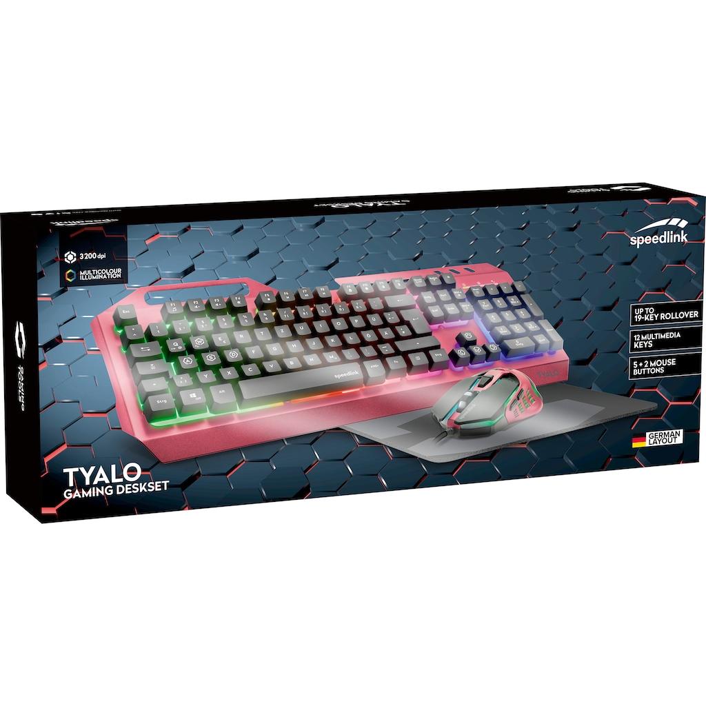 Speedlink Gaming-Tastatur »TYALO Illuminated Gaming Deskset - DE layout«