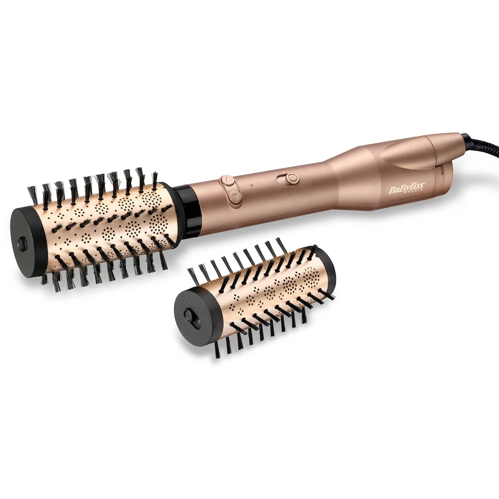 BaByliss Warmluftbürste »AS952E Big Hair Dual«, 2 Aufsätze}, rotierende Warmluftbürste mit 2 Aufsätzen