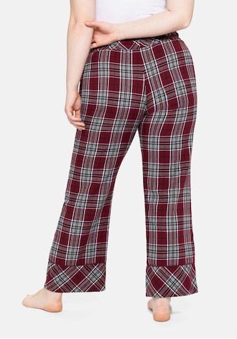 Sheego Pyjamahose, im weiten Schnitt, aus weichem Flanell kaufen
