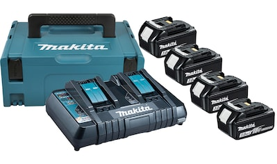 MAKITA Akku - Set »Power Source Kit«, 4 Akkus (18 V, 3 Ah) und Ladegerät kaufen