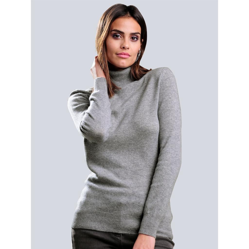 Alba Moda Rollkragenpullover, aus hochwertigem Kaschmir