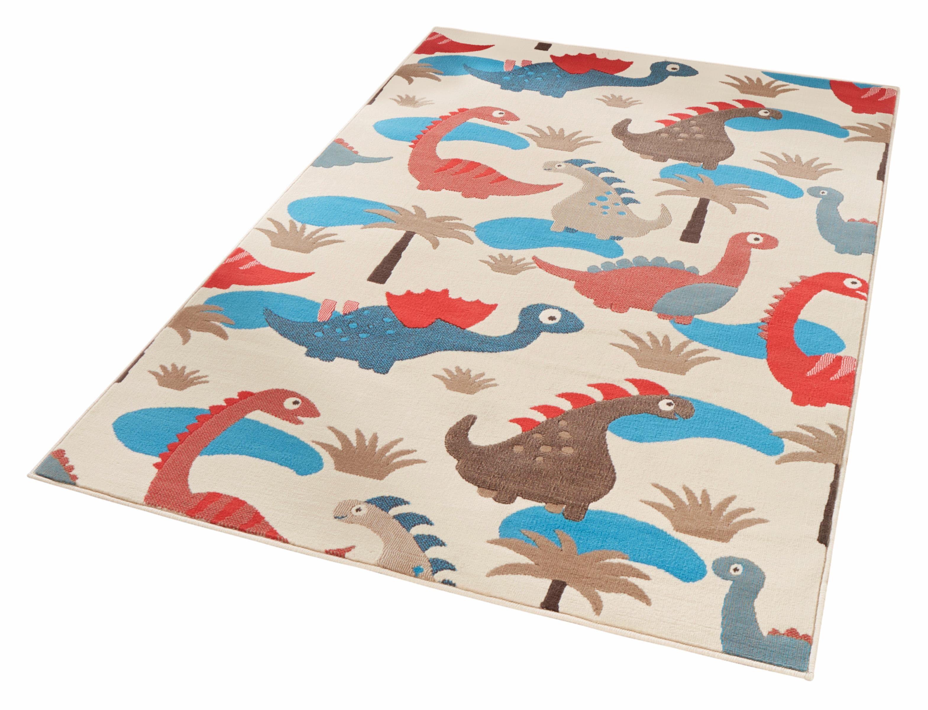 Kinderteppich Dinosaurier Zala Living rechteckig Höhe 9 mm
