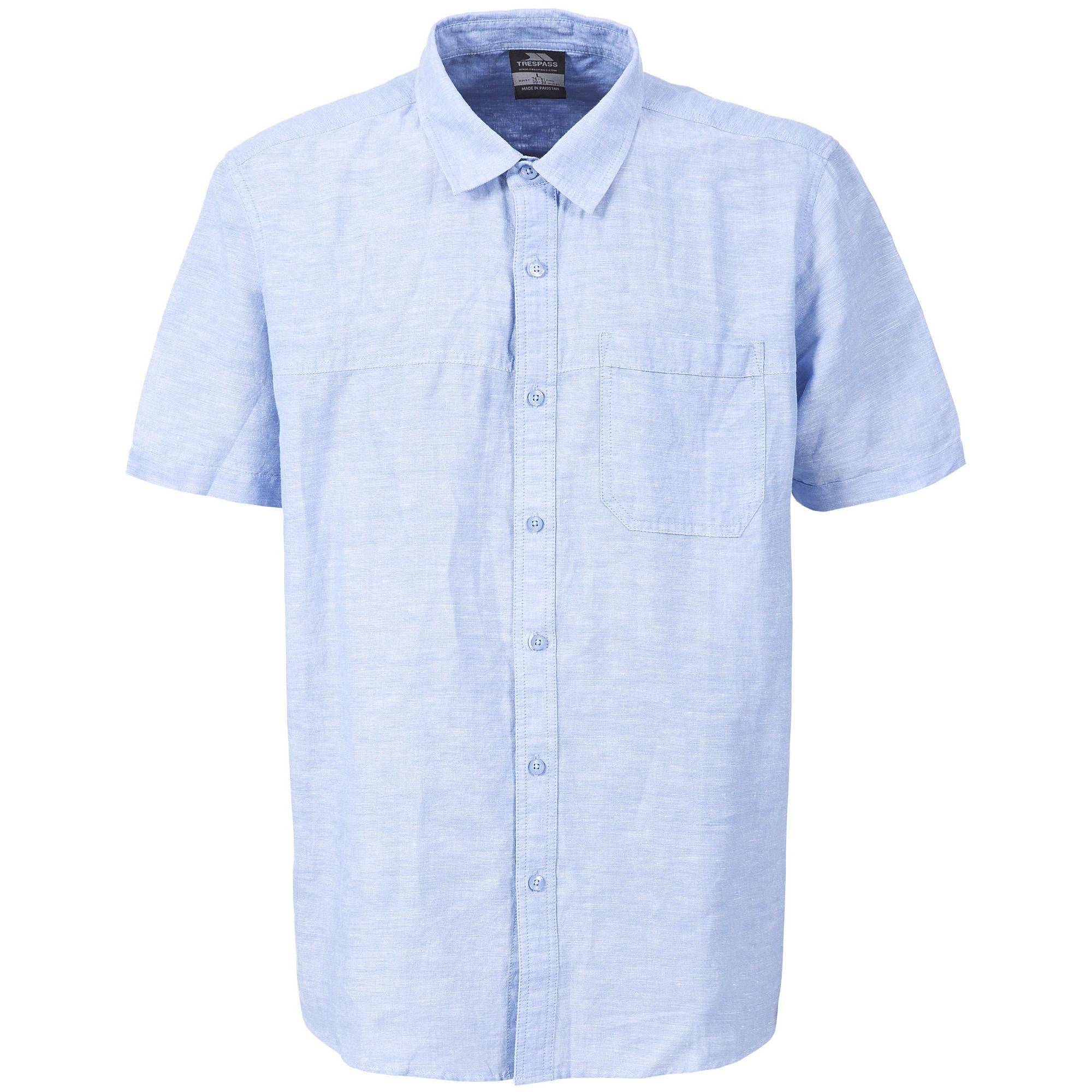 Trespass Kurzarmhemd Herren Saratov Kurzarm Freizeit Hemd | Bekleidung > Hemden > Freizeithemden | Blau | Trespass