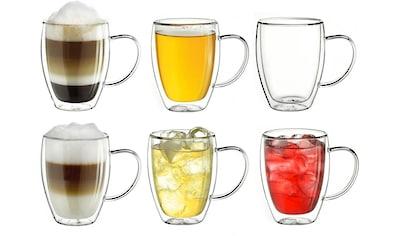 Creano Thermoglas, (Set, 6 tlg., 6er-Set), mit Henkel, Borosilikatglas, 400 ml kaufen