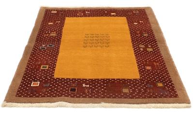 morgenland Wollteppich »Loribaft Teppich handgeknüpft gold«, rechteckig, 18 mm Höhe,... kaufen