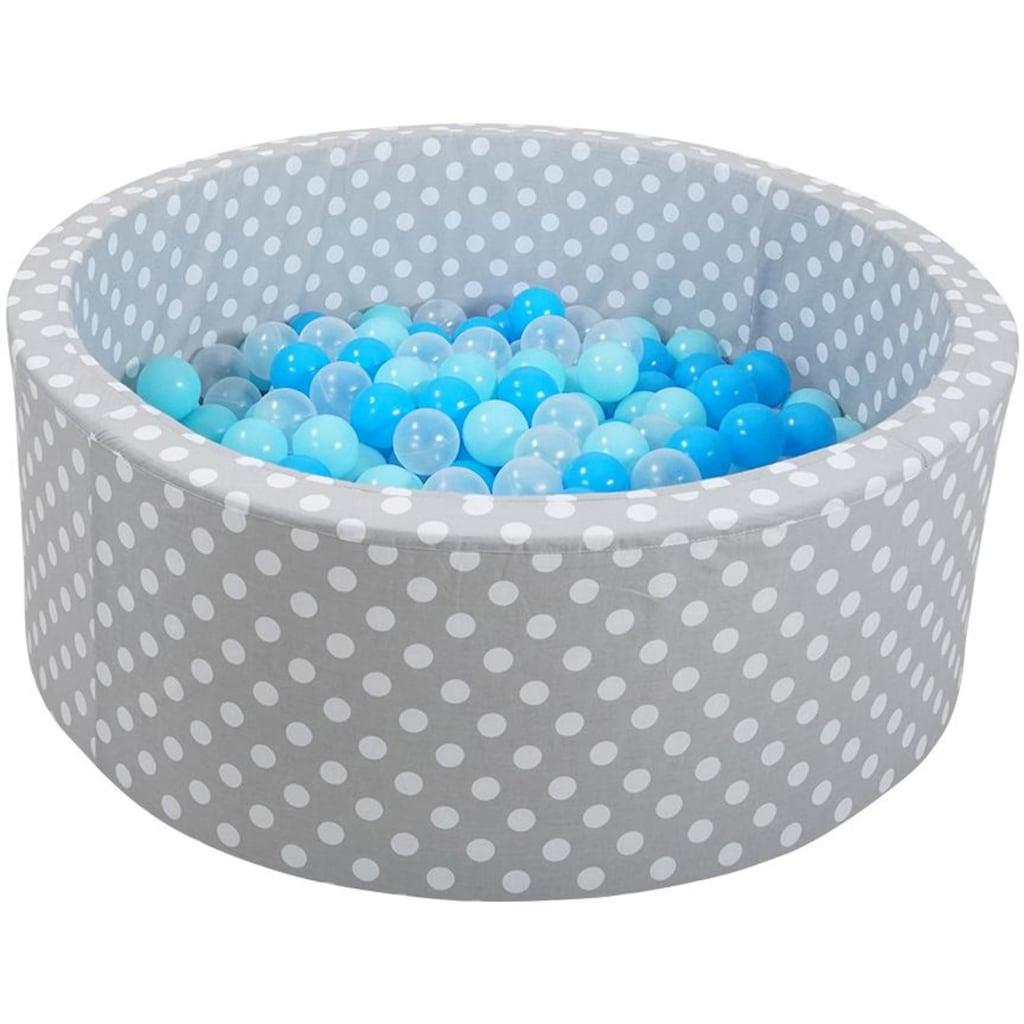 Knorrtoys® Bällebad »Soft, Grey white dots«, mit 300 Bällen soft blue/blue/transparent; Made in Europe
