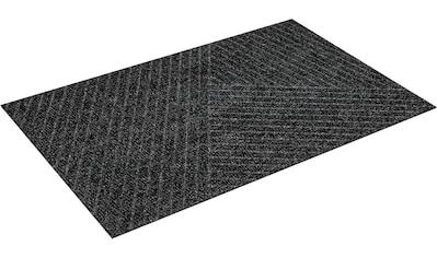 wash+dry by Kleen-Tex Fußmatte »Stripes«, rechteckig, 8 mm Höhe, Fussabstreifer, Fussabtreter, Schmutzfangläufer, Schmutzfangmatte, Schmutzfangteppich, Schmutzmatte, Türmatte, Türvorleger, In- und Outdoor geeignet, waschbar kaufen