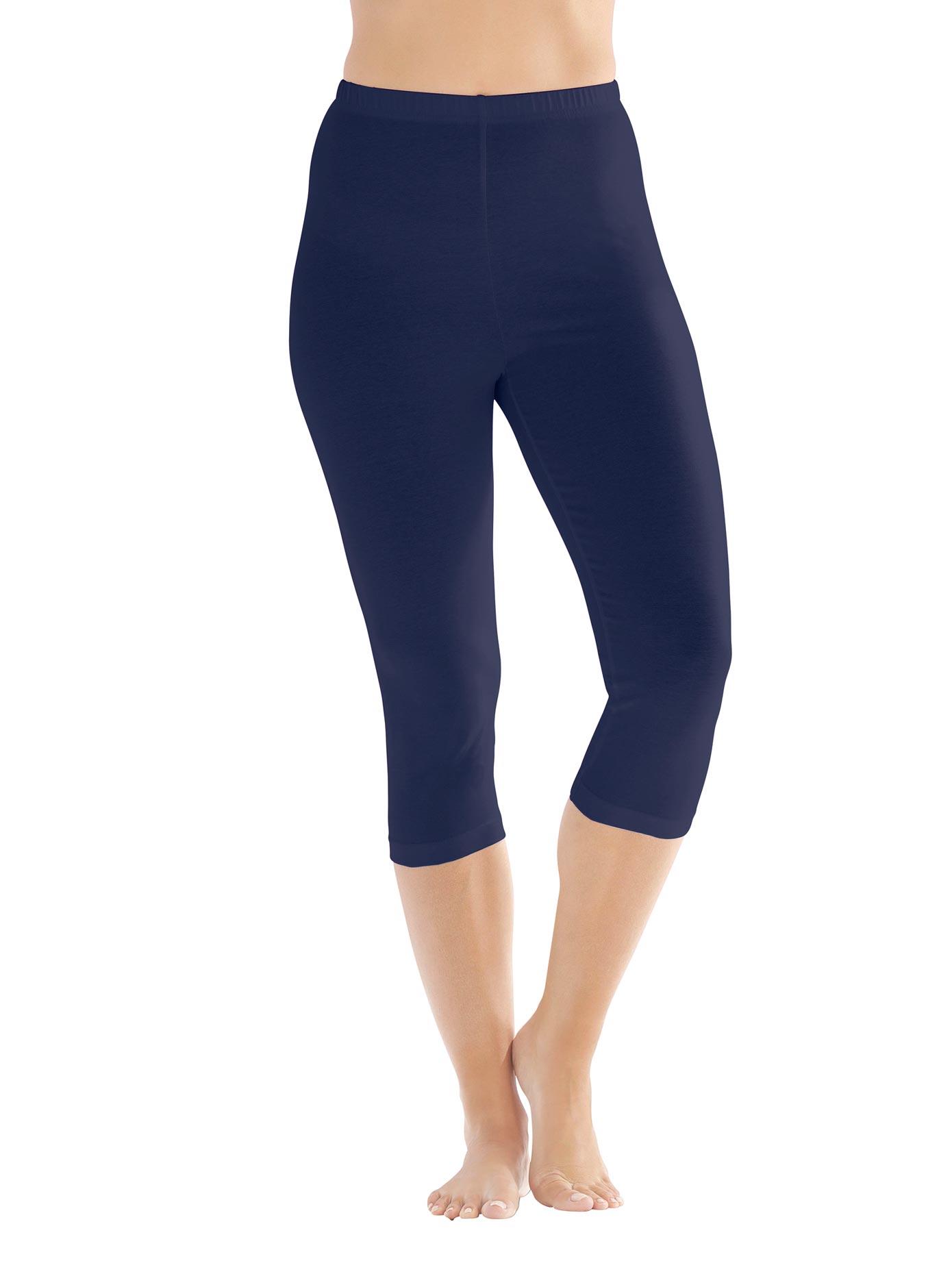 Caprileggings blau Damen Leggings Hosen