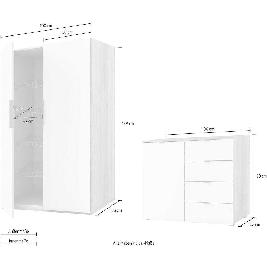 Express Solutions Garderoben-Set »Escalo«, (Set, 2 St.)