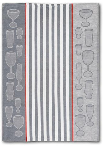 Dyckhoff Geschirrtuch »Gläser / Halbleinen«, (Set, 10 tlg.) kaufen