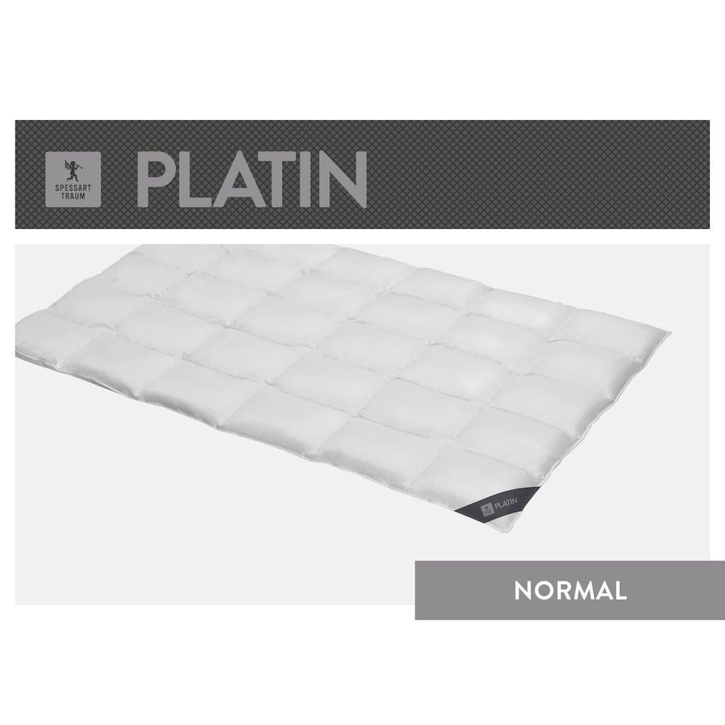 SPESSARTTRAUM Gänsedaunenbettdecke »Platin«, normal, Füllung 100% Gänsedaunen, Bezug 100% Baumwolle, (1 St.), hergestellt in Deutschland, allergikerfreundlich