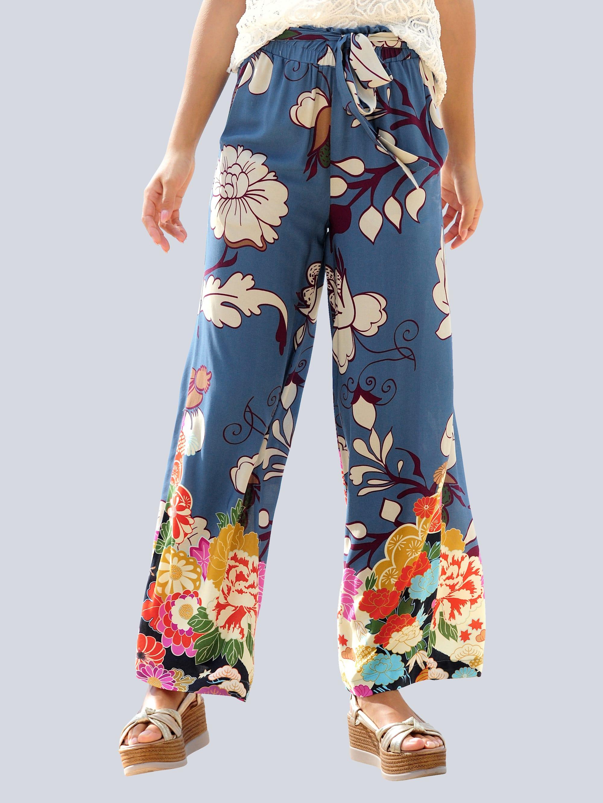 alba moda -  Strandhose, mit Blumenbordüre