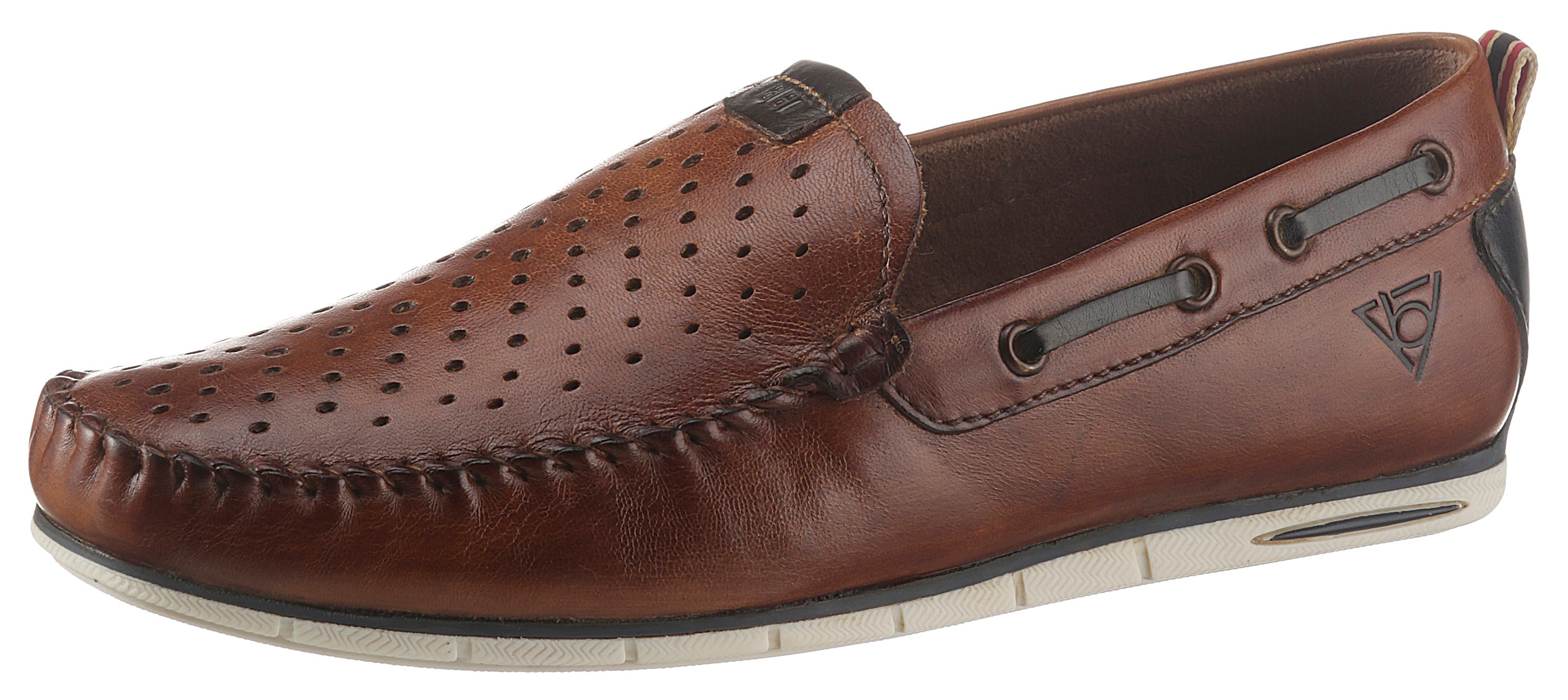 bugatti Slipper, in Mokassin-Optik braun Herren Slipper Sneaker